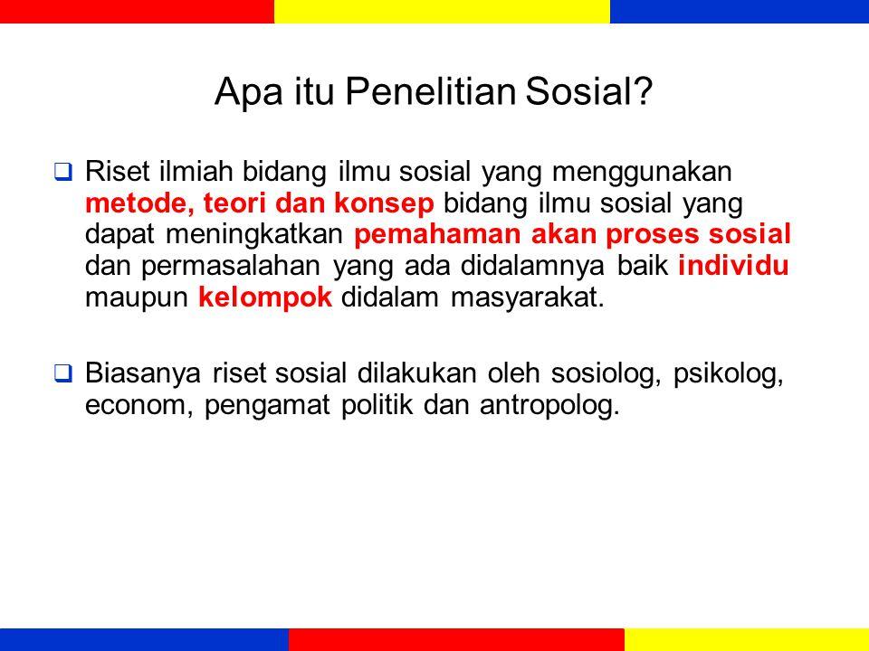Apa itu Penelitian Sosial