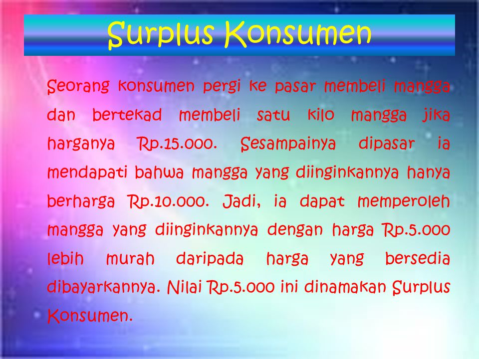 Surplus Konsumen Income Effect