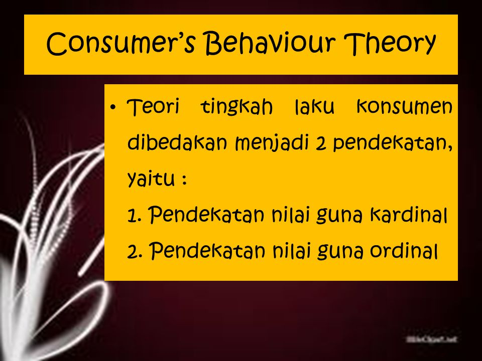 Consumer's Behaviour Theory
