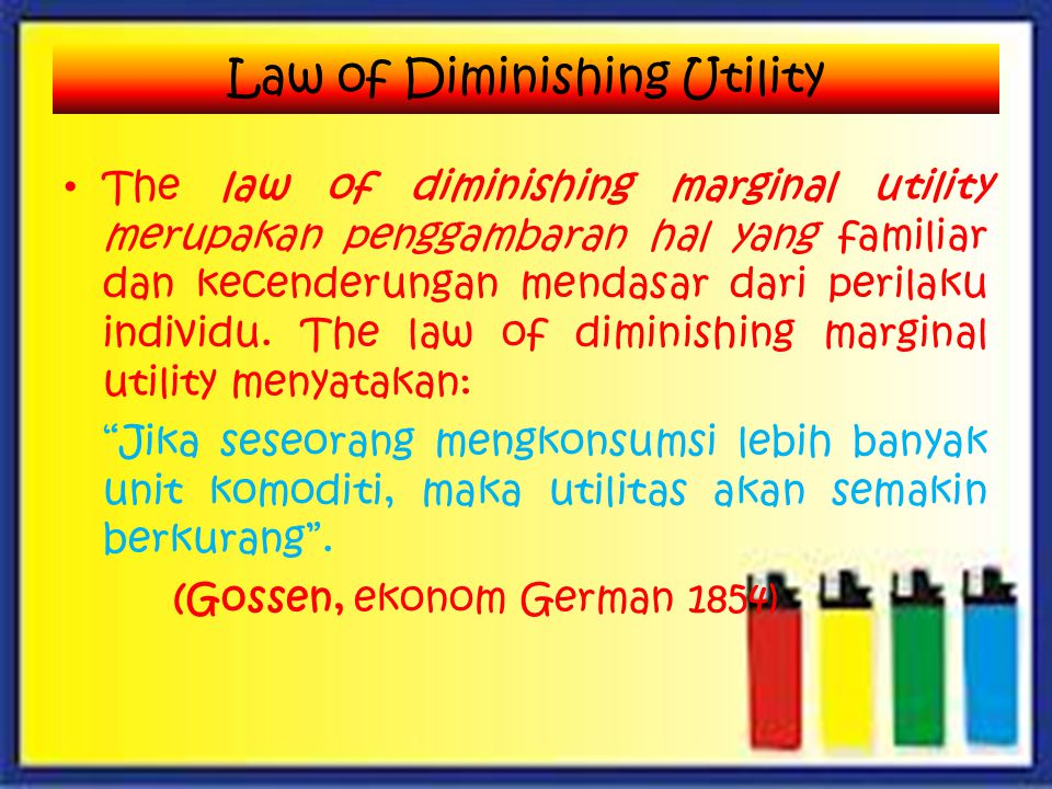 Law of Diminishing Utility