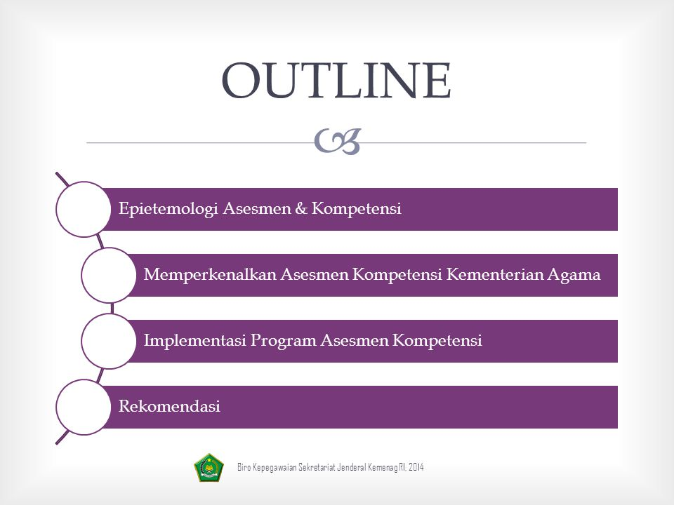 OUTLINE Epietemologi Asesmen & Kompetensi