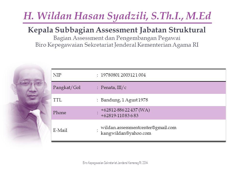 H. Wildan Hasan Syadzili, S.Th.I., M.Ed