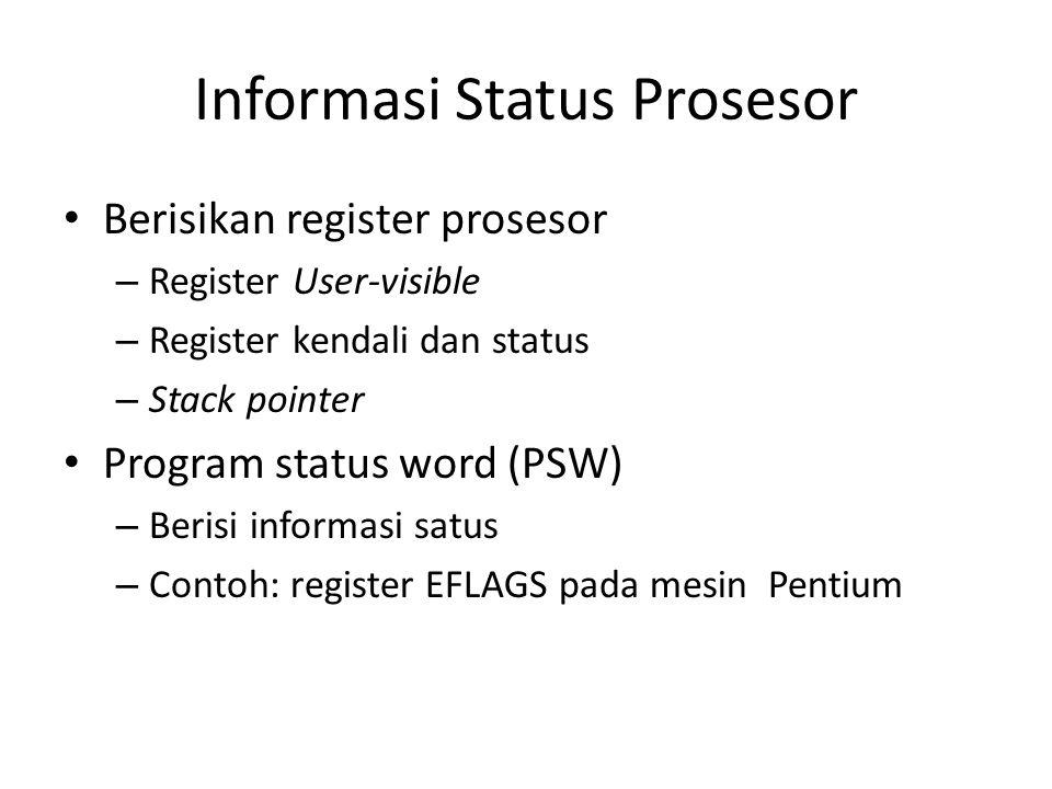 Informasi Status Prosesor