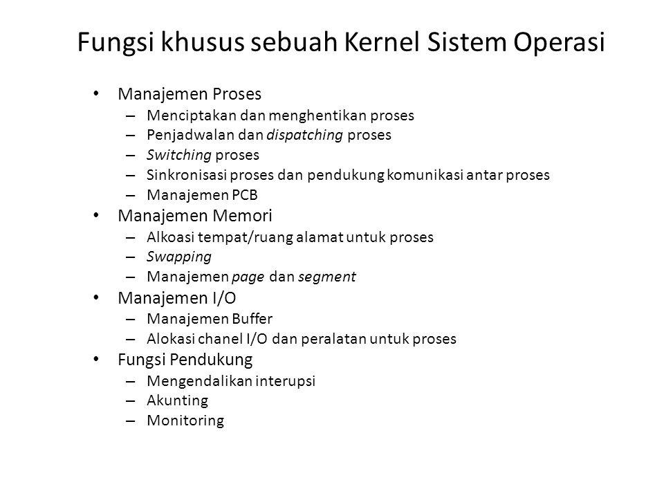 Fungsi khusus sebuah Kernel Sistem Operasi