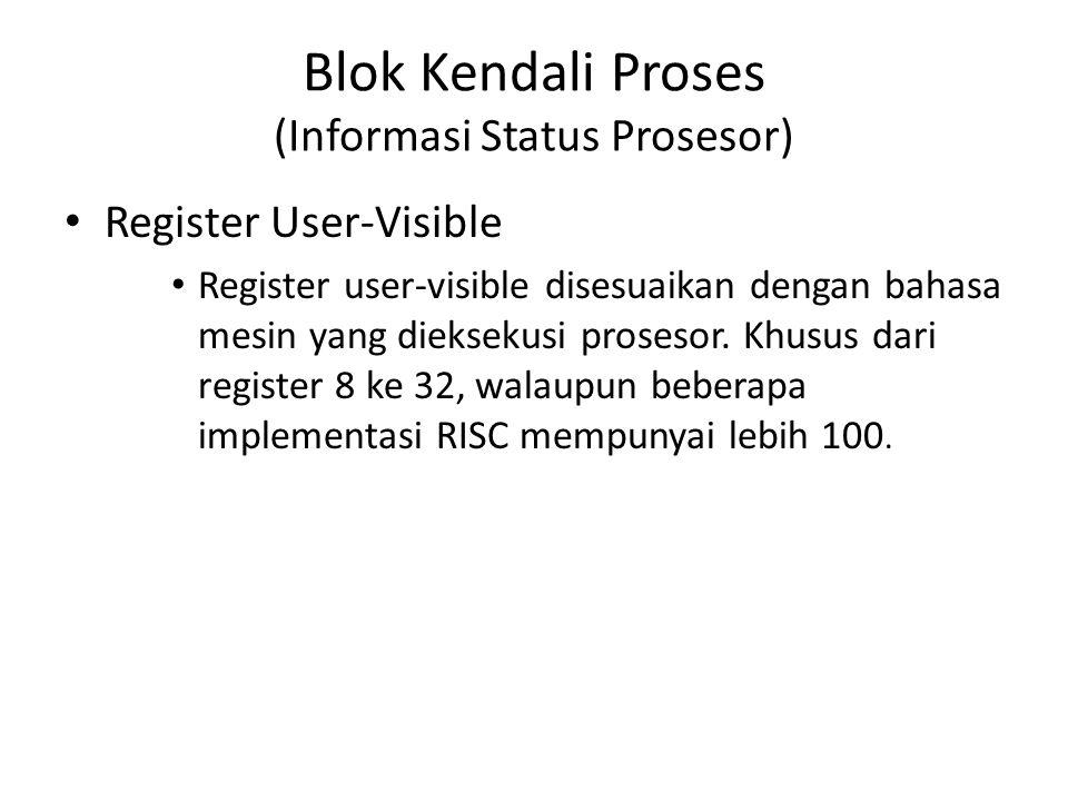 Blok Kendali Proses (Informasi Status Prosesor)