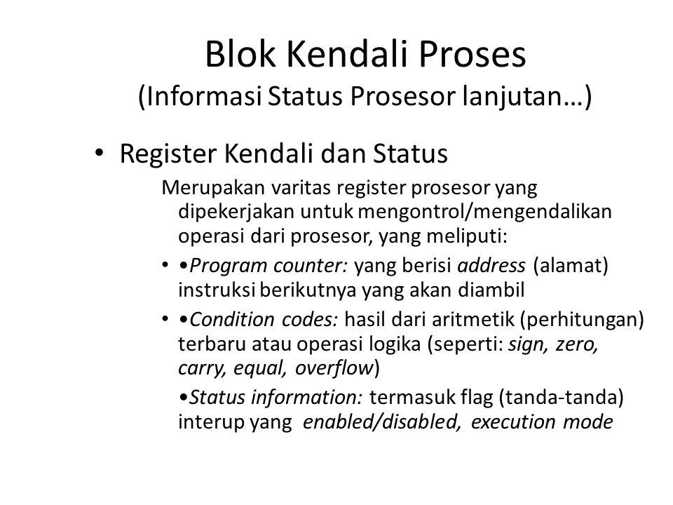 Blok Kendali Proses (Informasi Status Prosesor lanjutan…)