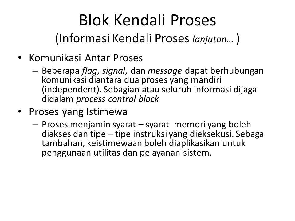 Blok Kendali Proses (Informasi Kendali Proses lanjutan… )