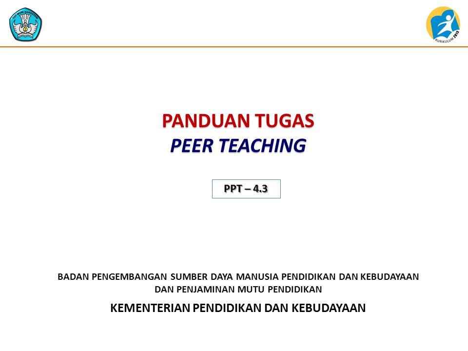 PANDUAN TUGAS PEER TEACHING