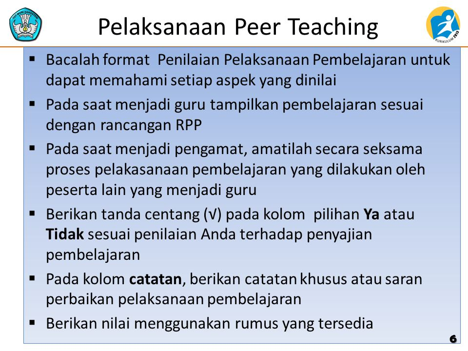 Pelaksanaan Peer Teaching