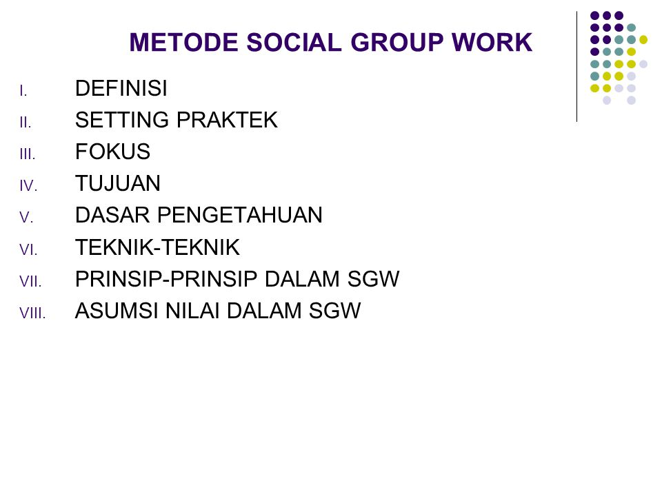 METODE SOCIAL GROUP WORK