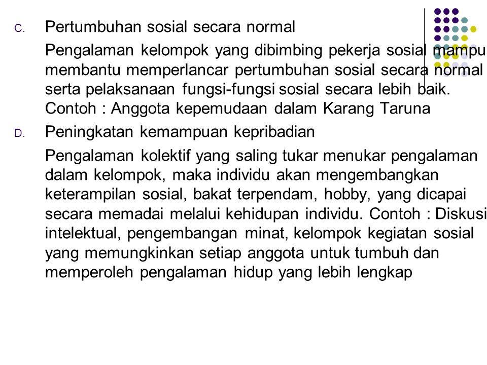 Pertumbuhan sosial secara normal