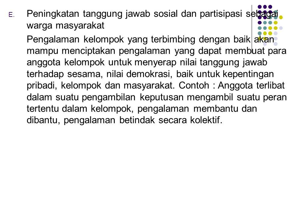 Peningkatan tanggung jawab sosial dan partisipasi sebagai warga masyarakat