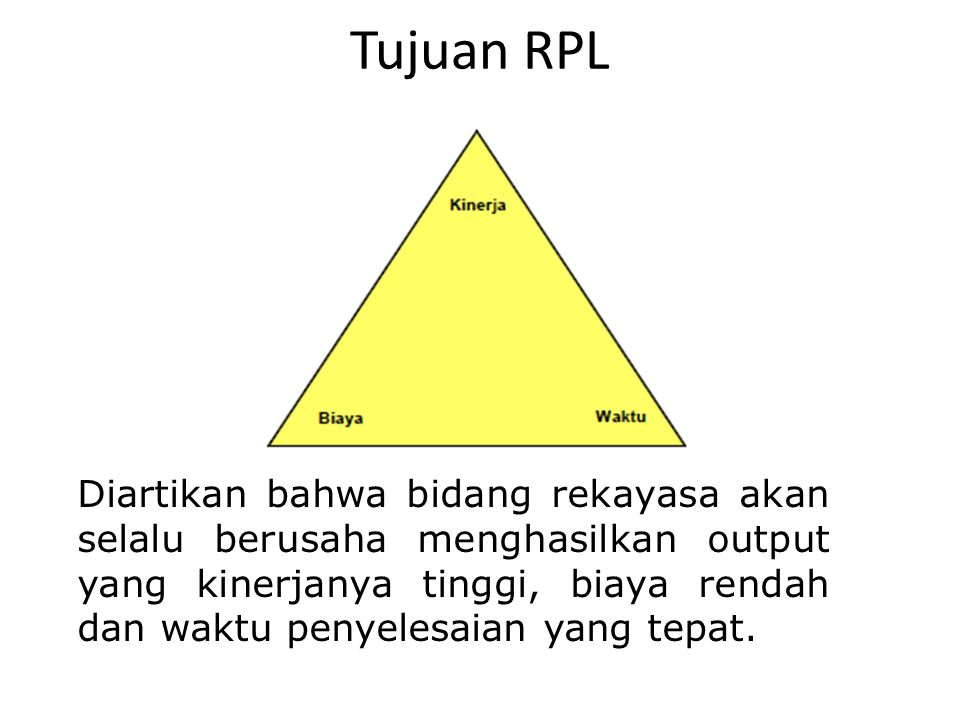 Tujuan RPL