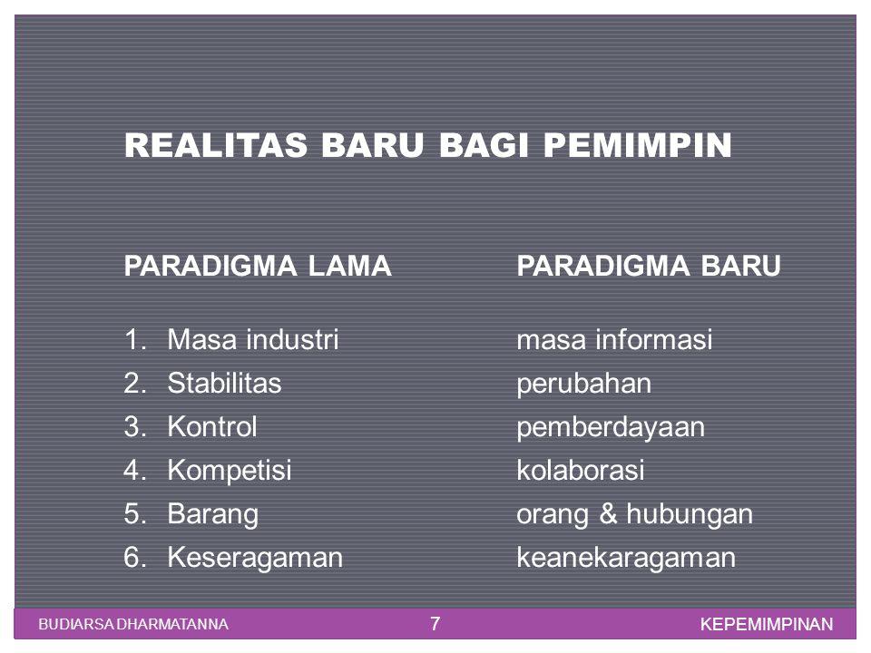 REALITAS BARU BAGI PEMIMPIN