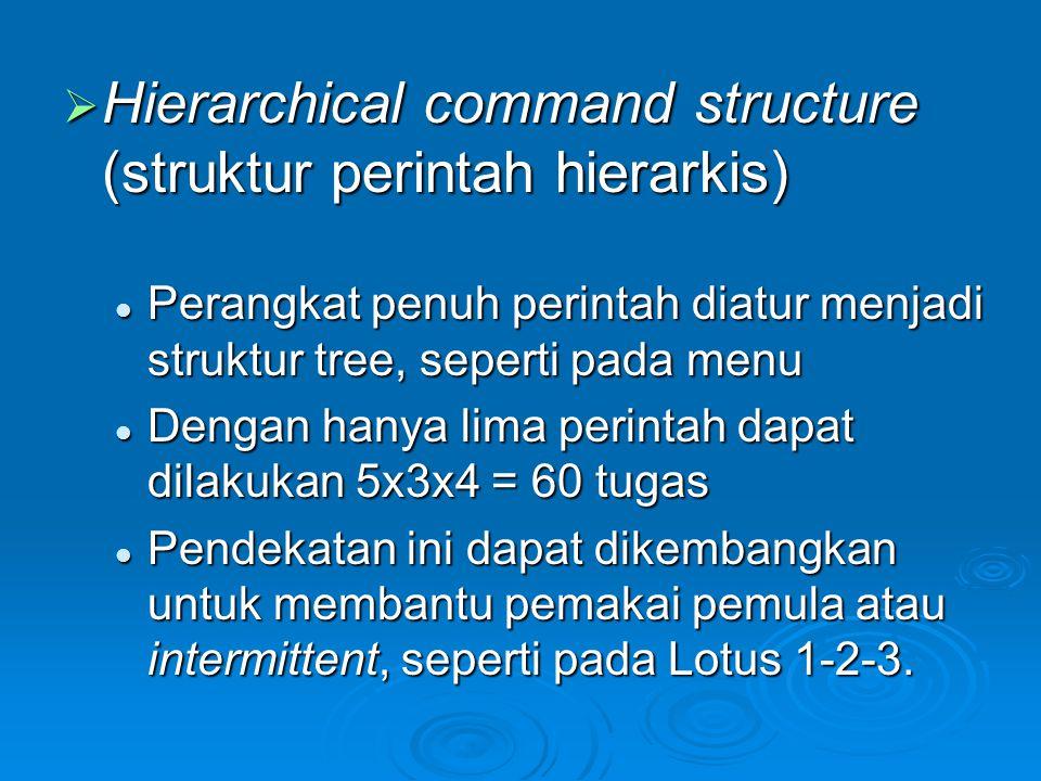 Hierarchical command structure (struktur perintah hierarkis)