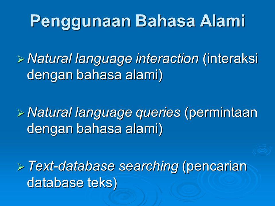 Penggunaan Bahasa Alami
