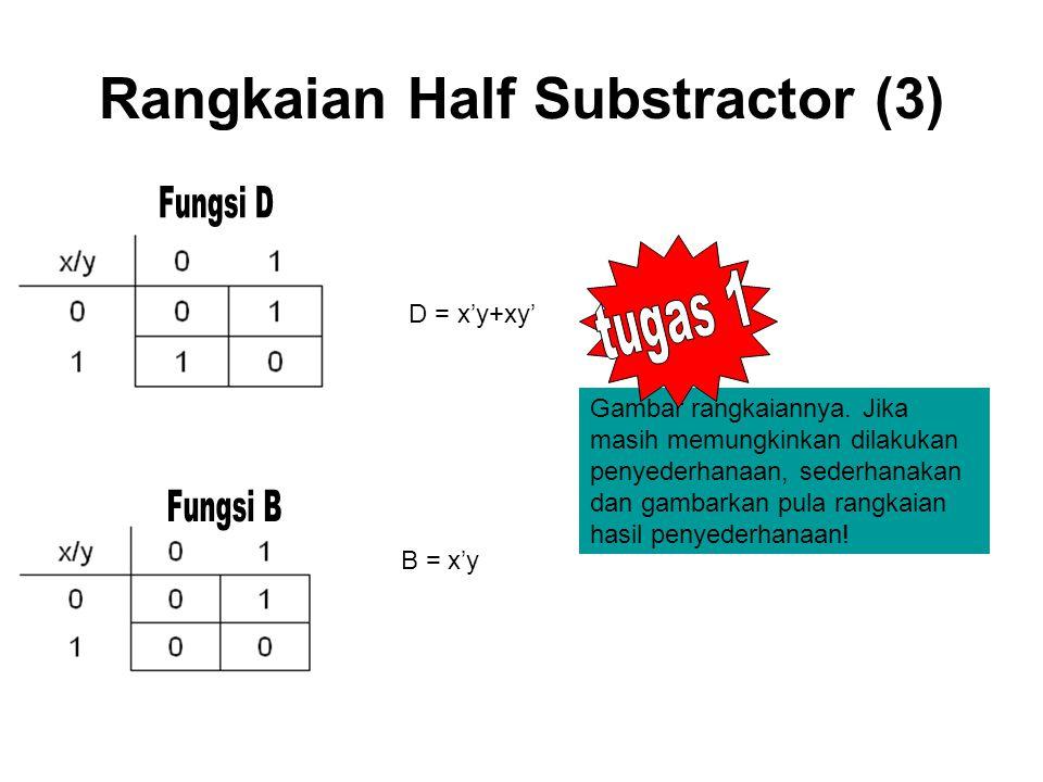 Rangkaian Half Substractor (3)
