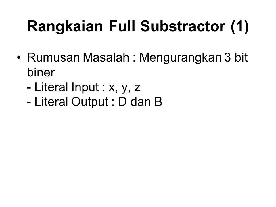 Rangkaian Full Substractor (1)
