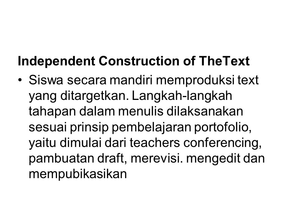 Independent Construction of TheText