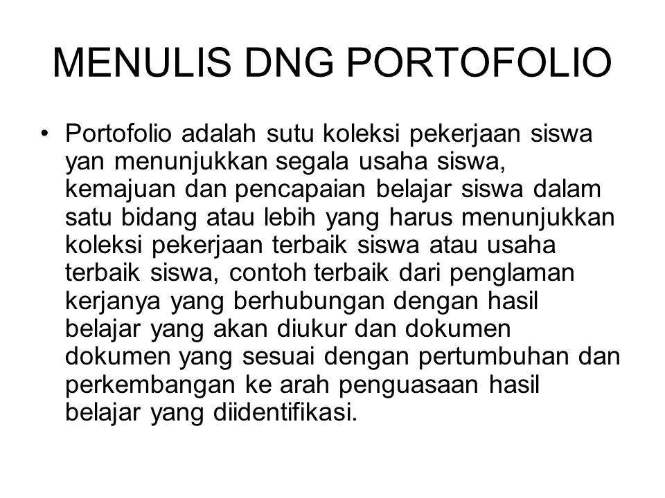 MENULIS DNG PORTOFOLIO