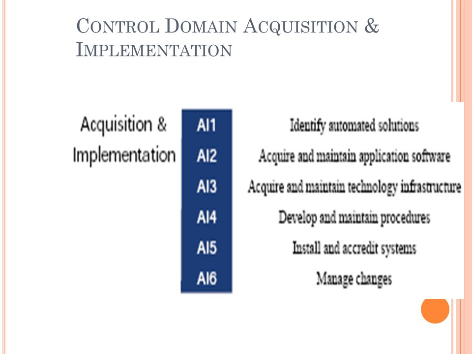 Control Domain Acquisition & Implementation
