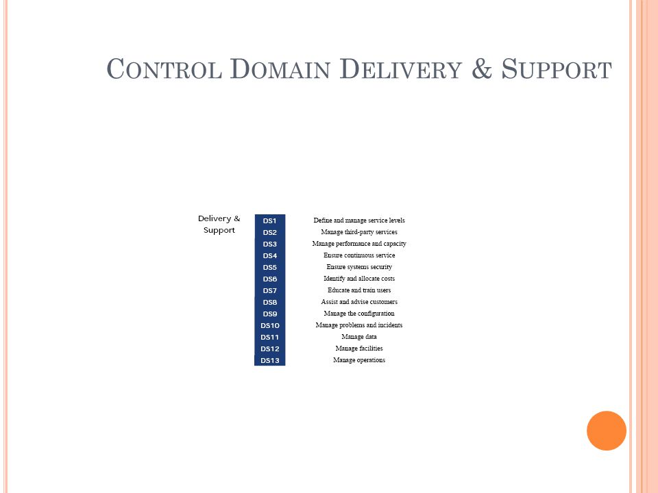 Control Domain Delivery & Support