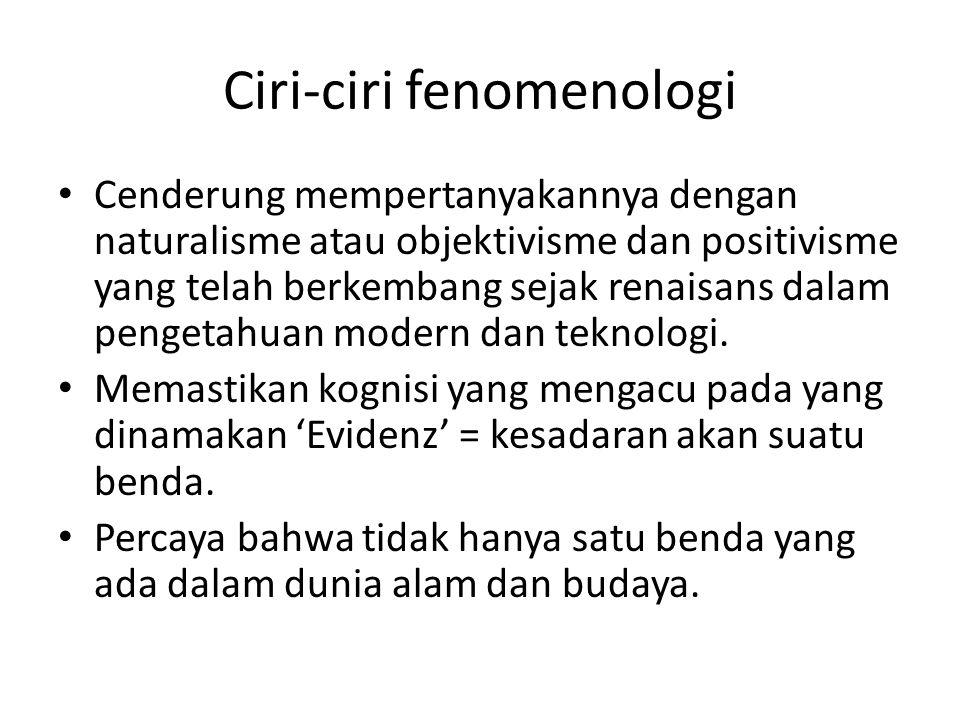 Ciri-ciri fenomenologi