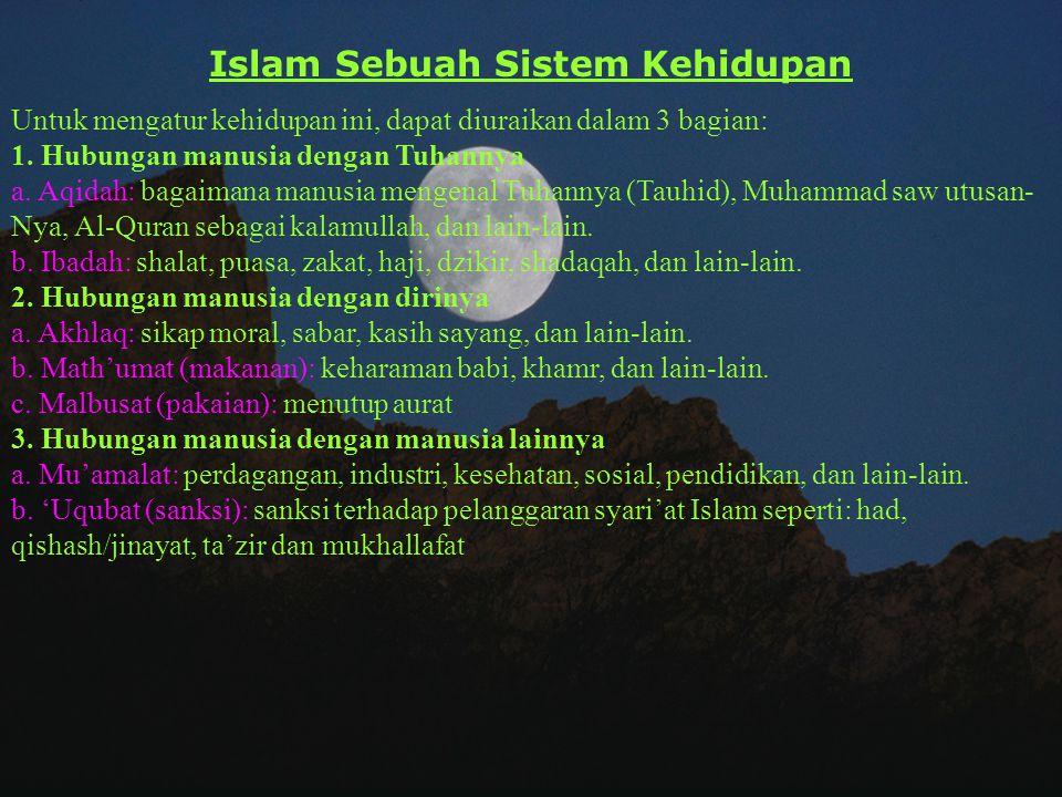 Islam Sebuah Sistem Kehidupan