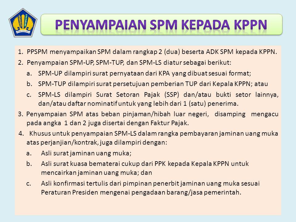 Penyampaian SPM kepada KPPN