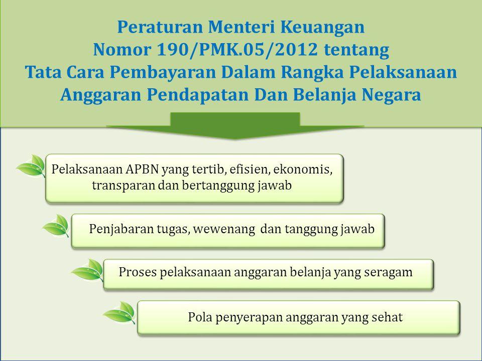 Peraturan Menteri Keuangan Nomor 190/PMK