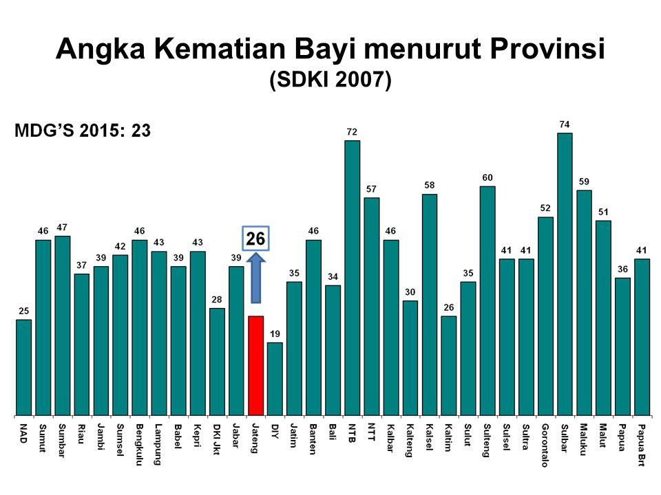 Angka Kematian Bayi menurut Provinsi (SDKI 2007)