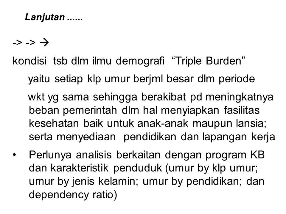 kondisi tsb dlm ilmu demografi Triple Burden