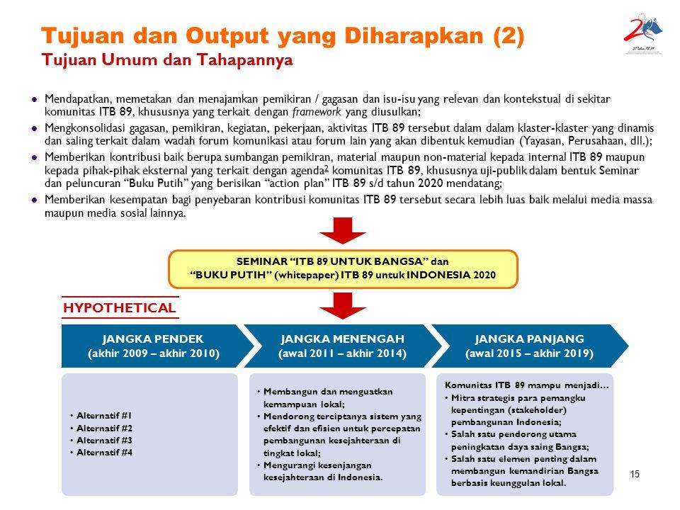 Tujuan dan Output yang Diharapkan (2) Tujuan Umum dan Tahapannya