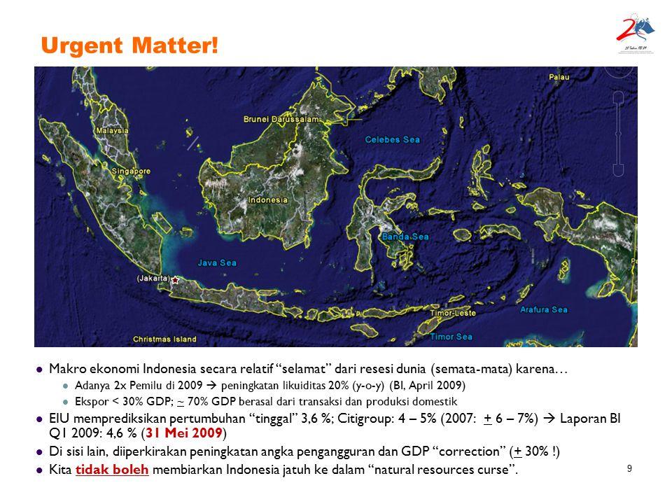 Urgent Matter! Makro ekonomi Indonesia secara relatif selamat dari resesi dunia (semata-mata) karena…