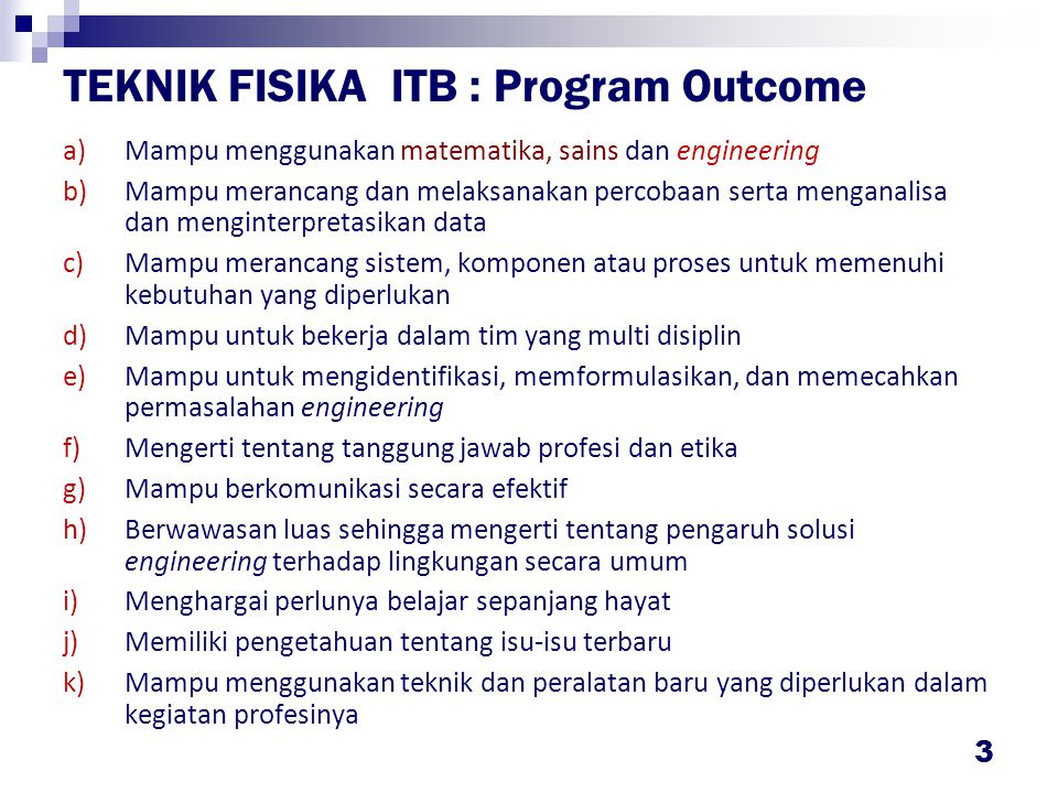 PARADIGMA KURIKULUM Paradigma Teknik Fisika ITB Engineering Physicists