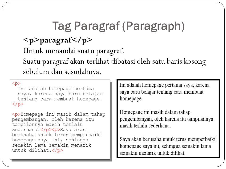 Tag Paragraf (Paragraph)