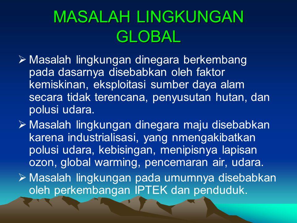 MASALAH LINGKUNGAN GLOBAL