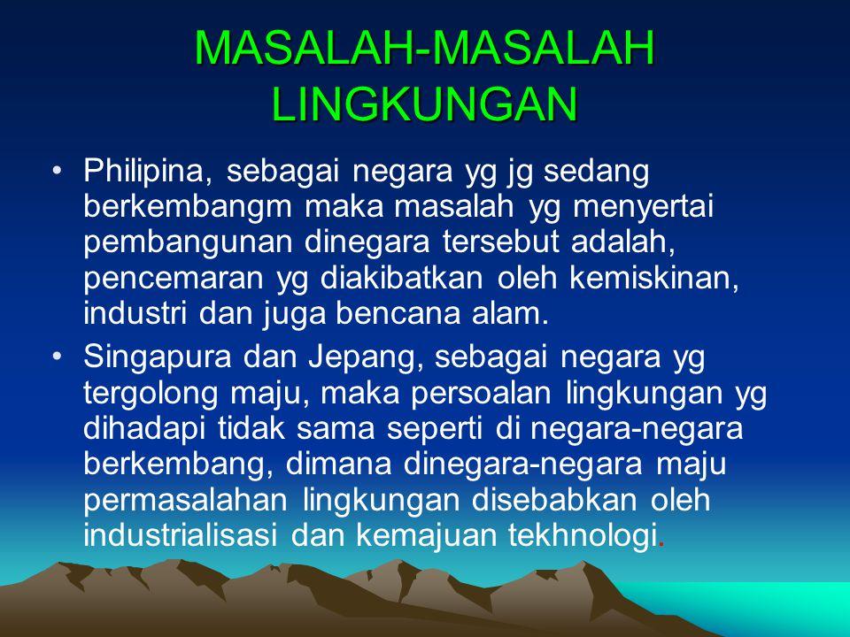 MASALAH-MASALAH LINGKUNGAN