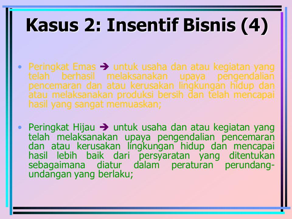 Kasus 2: Insentif Bisnis (4)