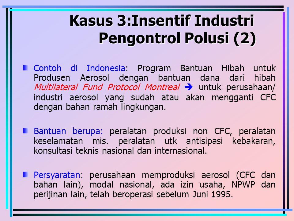 Kasus 3:Insentif Industri Pengontrol Polusi (2)