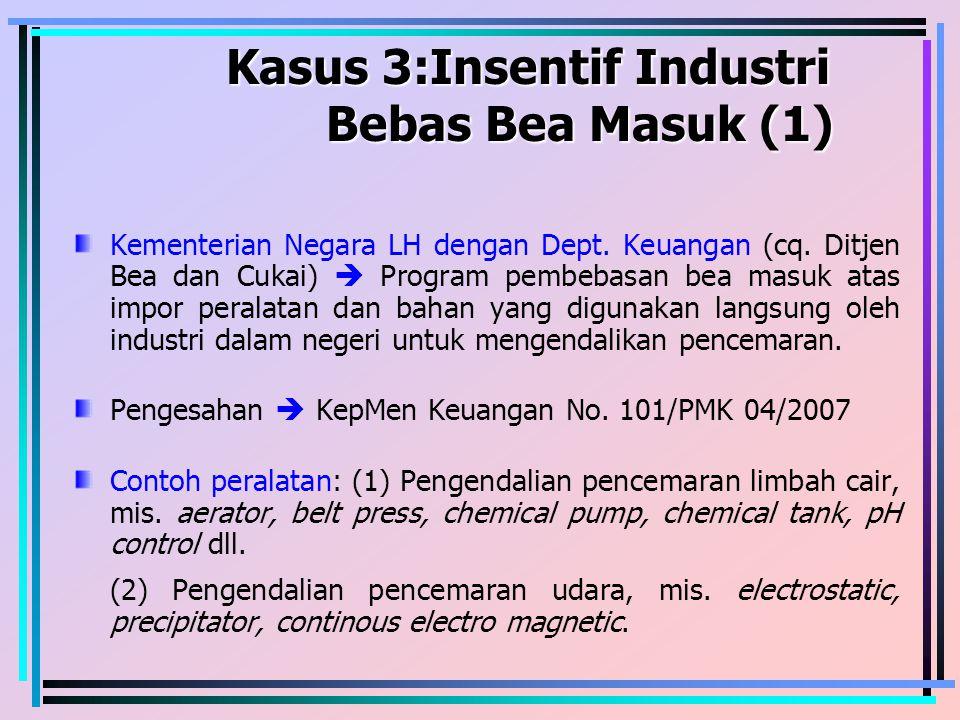 Kasus 3:Insentif Industri Bebas Bea Masuk (1)