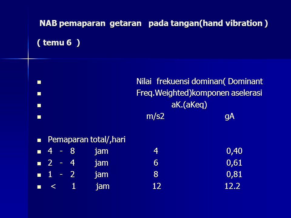 NAB pemaparan getaran pada tangan(hand vibration ) ( temu 6 )