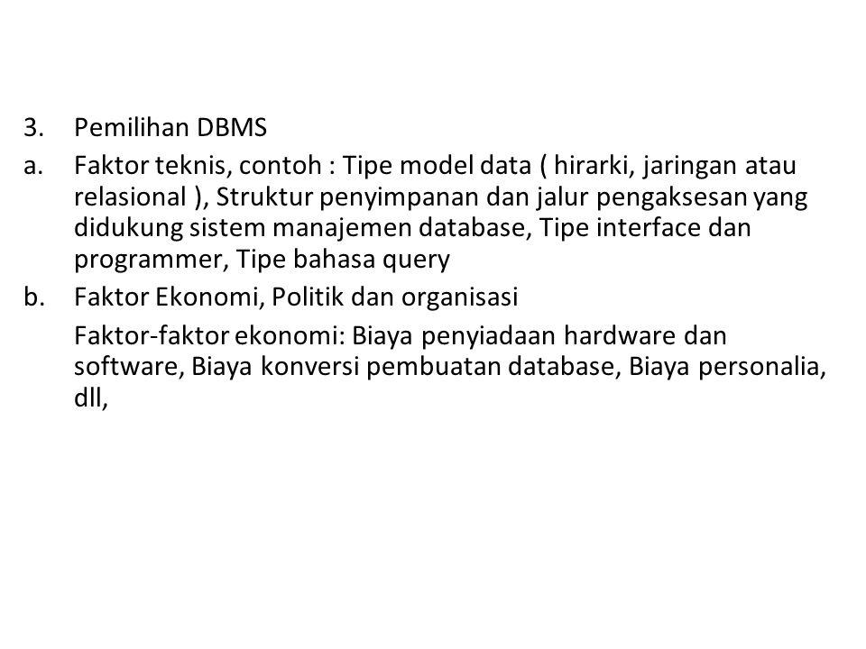Pemilihan DBMS