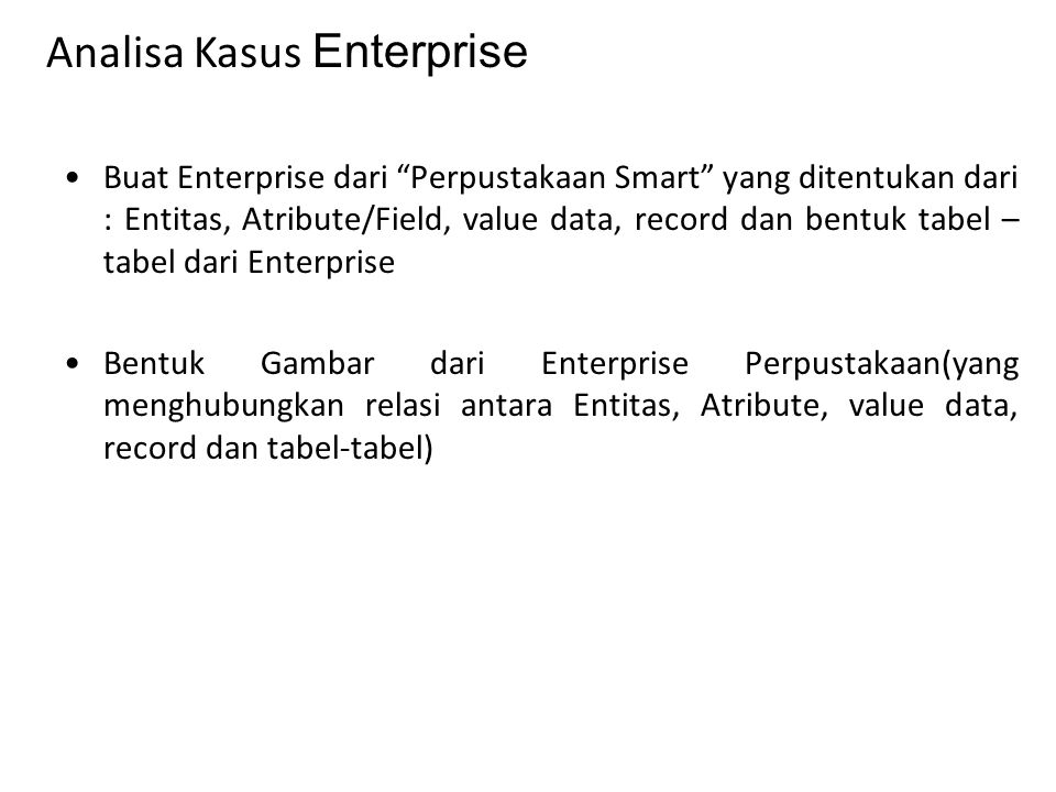 Analisa Kasus Enterprise