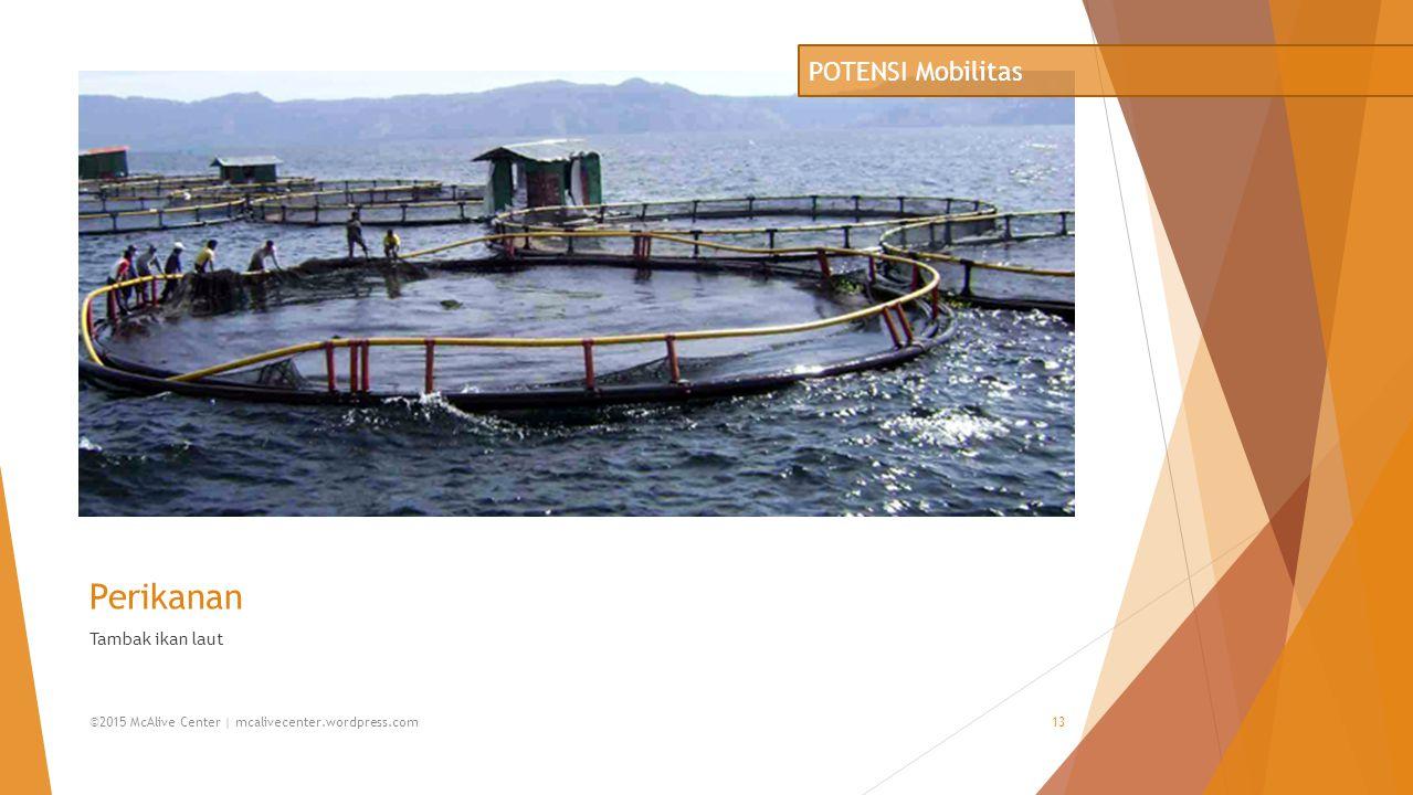 Perikanan POTENSI Mobilitas Tambak ikan laut