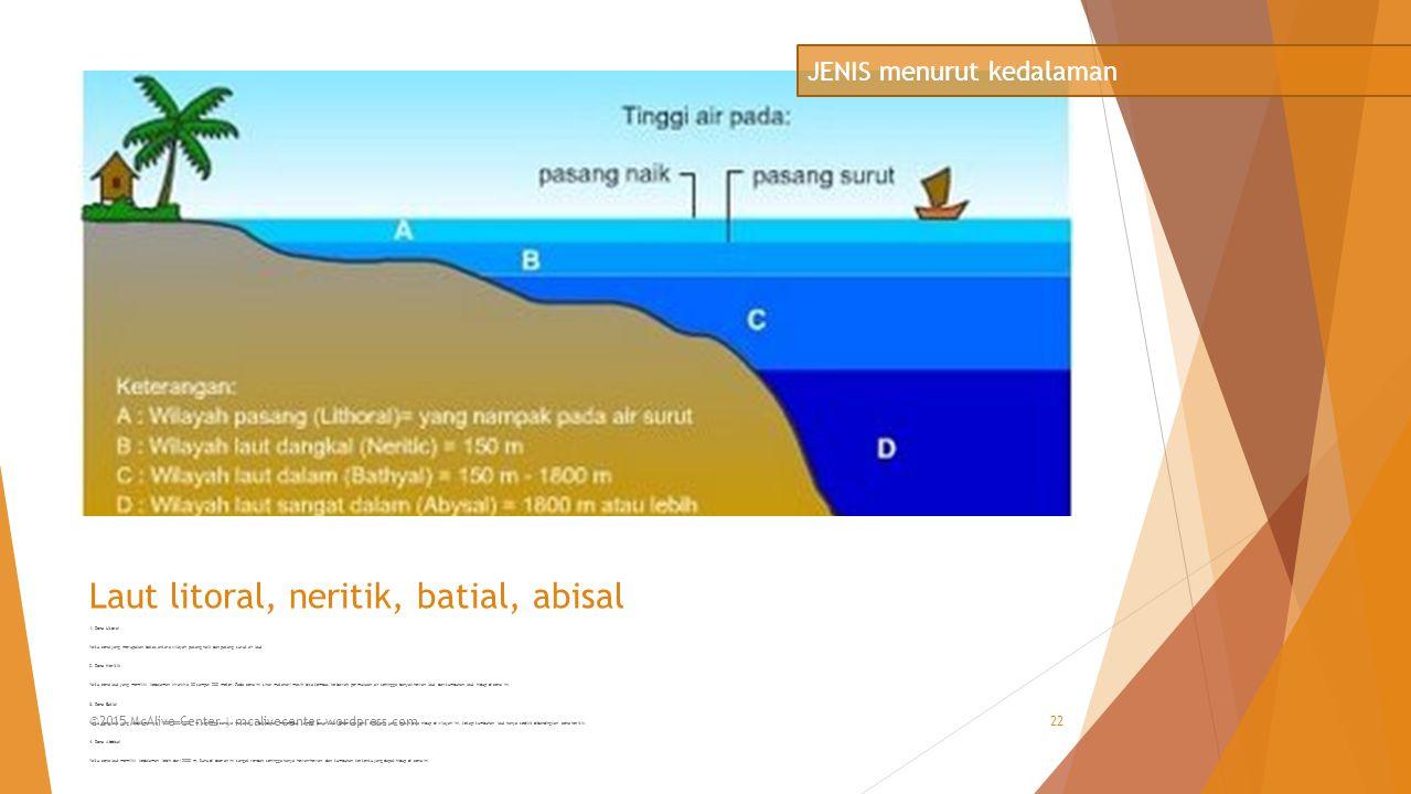 Laut litoral, neritik, batial, abisal