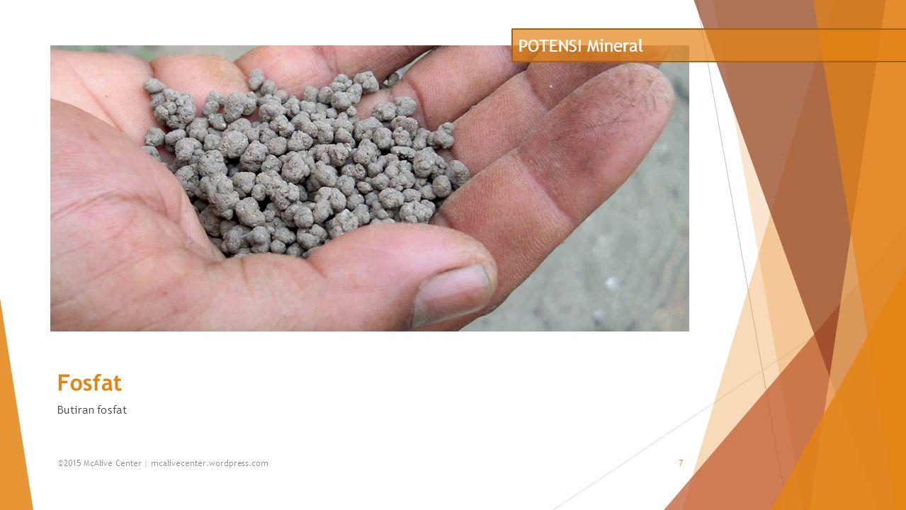 Fosfat POTENSI Mineral Butiran fosfat