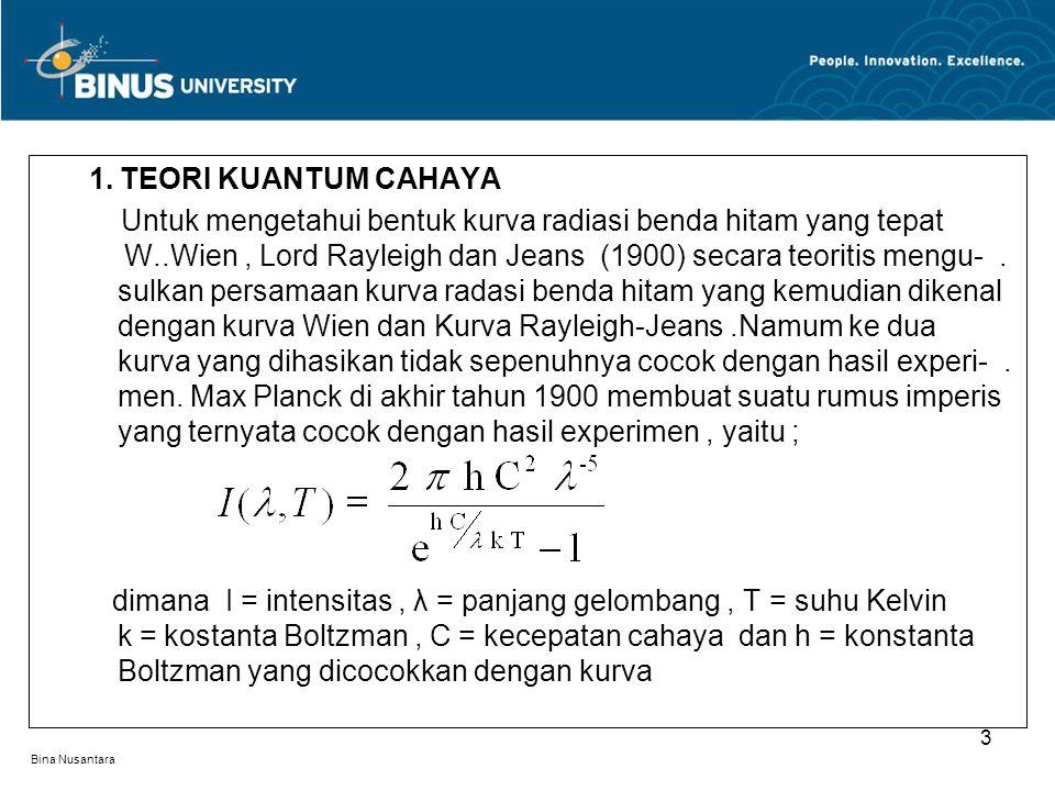 1. TEORI KUANTUM CAHAYA