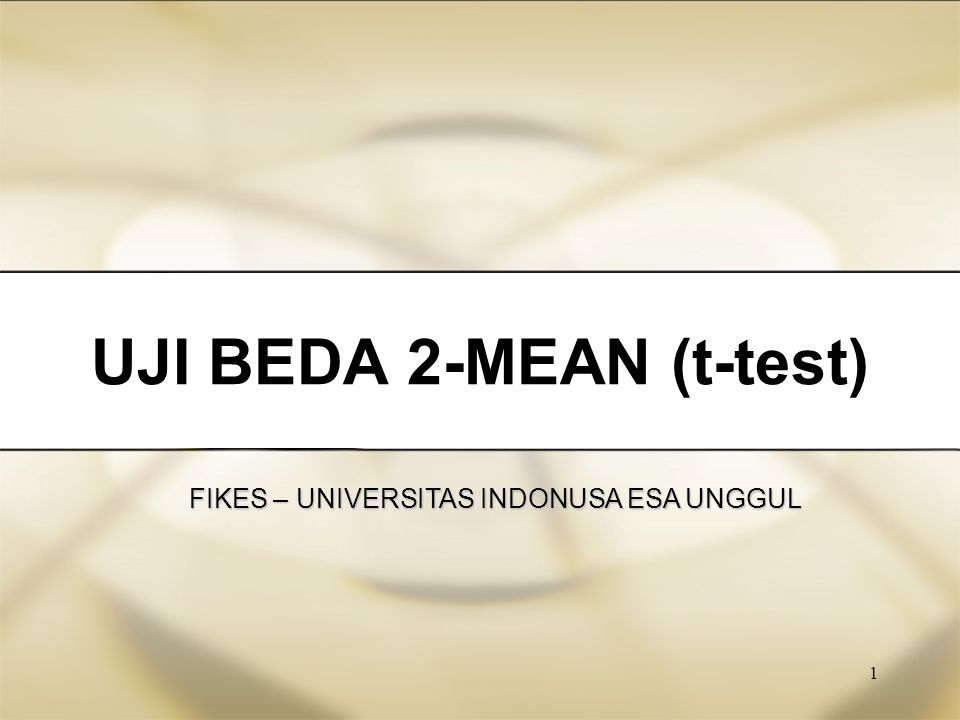 UJI BEDA 2-MEAN (t-test)