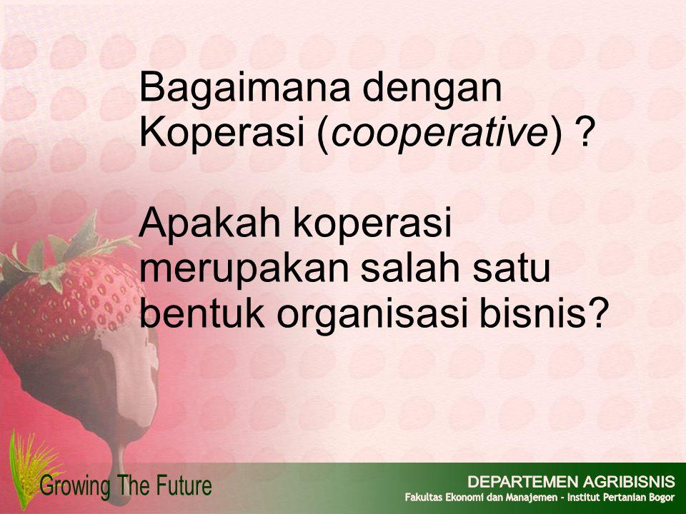 Bagaimana dengan Koperasi (cooperative)